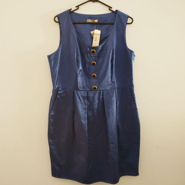 BNWT Cobalt Blue Dress Size 14
