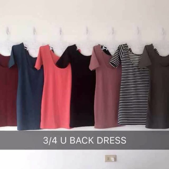 Bodycon U-Back Dress
