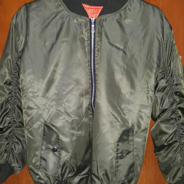 Bomber Jacket Jaket Bomber Bomber Army