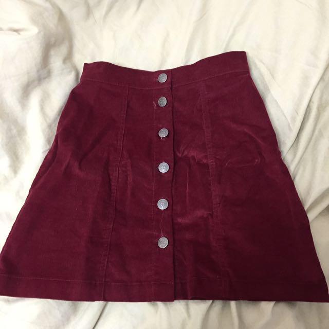 Button Up Skirt Size 6