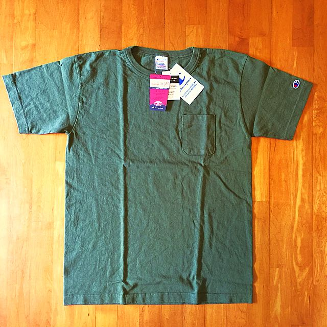 ff19279c Champion T1011 Heavyweight Pocket Tee Olive Size M Made in USA, Men's  Fashion, Clothes on Carousell
