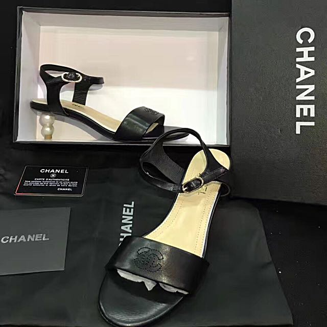 43fe07697da2 CHANEL SANDALS WITH PEARL DETAIL