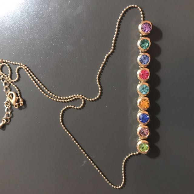 Colourful Necklace Gold