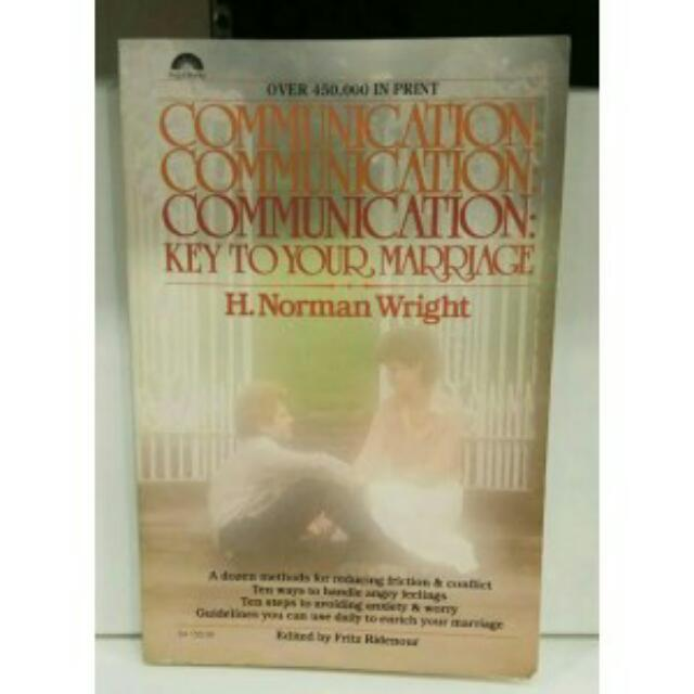 COMMUNICATION KEY TO YOUR MARRIAGE, NORMAN WRIGHT