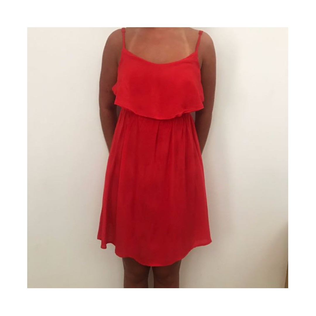 Cotton On Red Dress Sz S