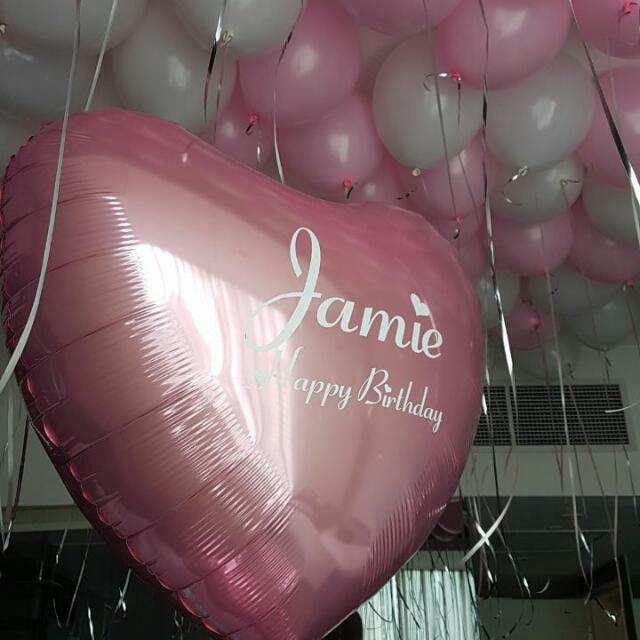 Custom Birthday Balloons Decor For Her Everything Else On Carousell