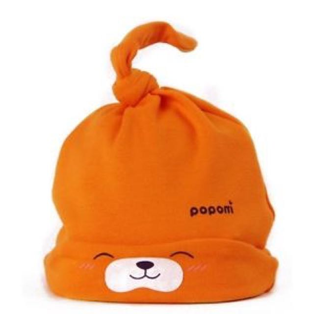 Cute Printed Toddlers Warm Hat Soft Cap Beanie Orange