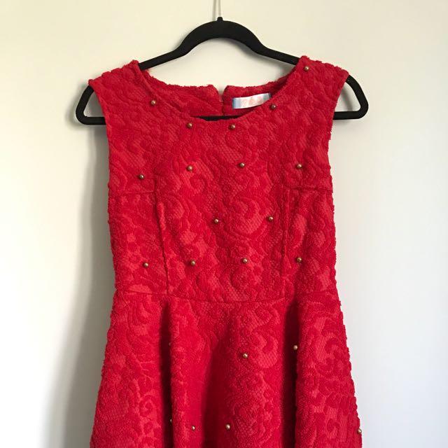 Cute Sexy Red Stuffed Dress