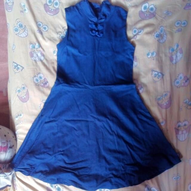 Denim Dress Stretch Free Size