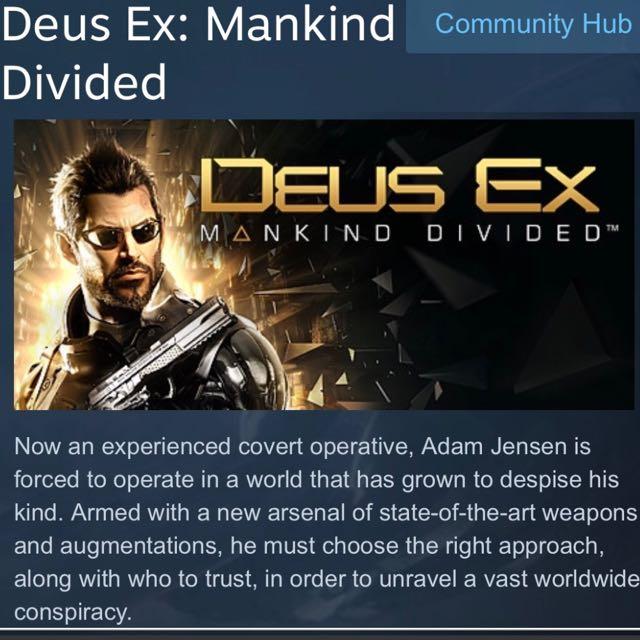Deus Ex: Mankind Divided (PC) Steam activation key