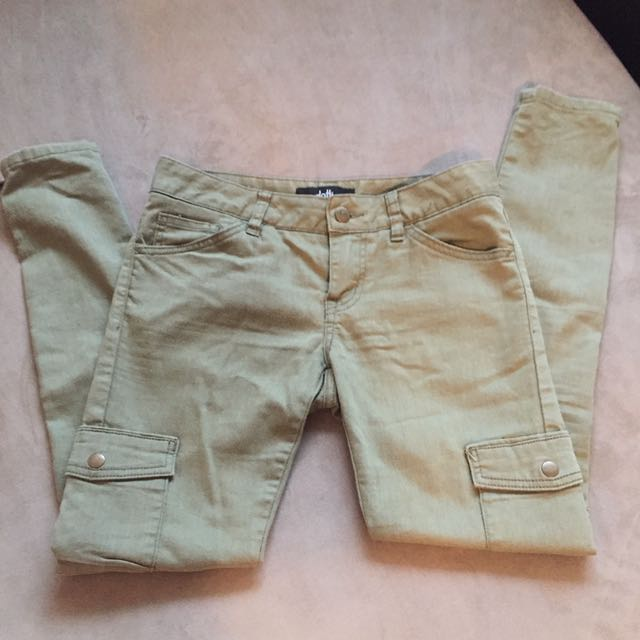 Dotti Sz 8 Denim Khaki Jeans