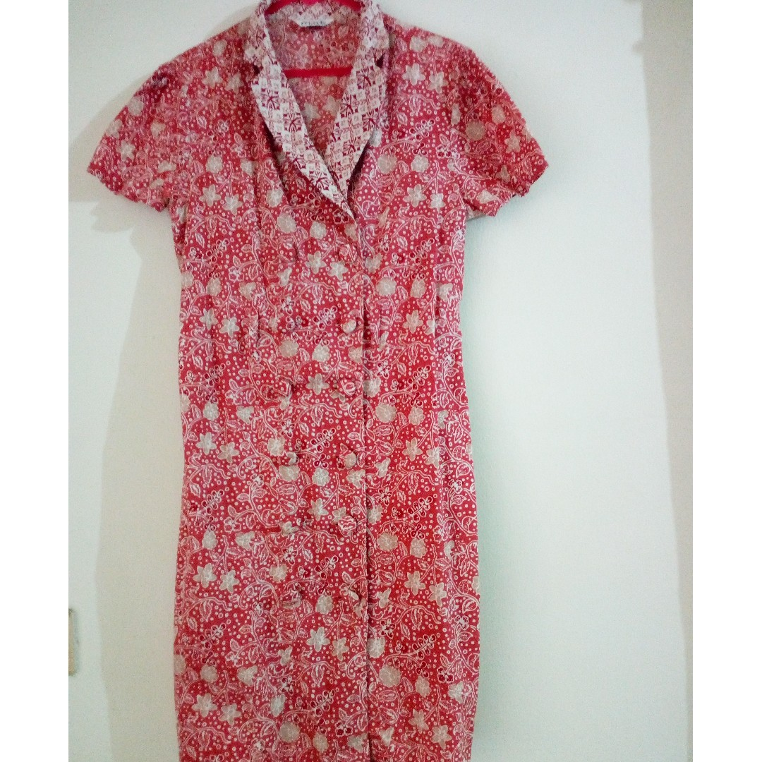 Dress batik MINT warna pink size M