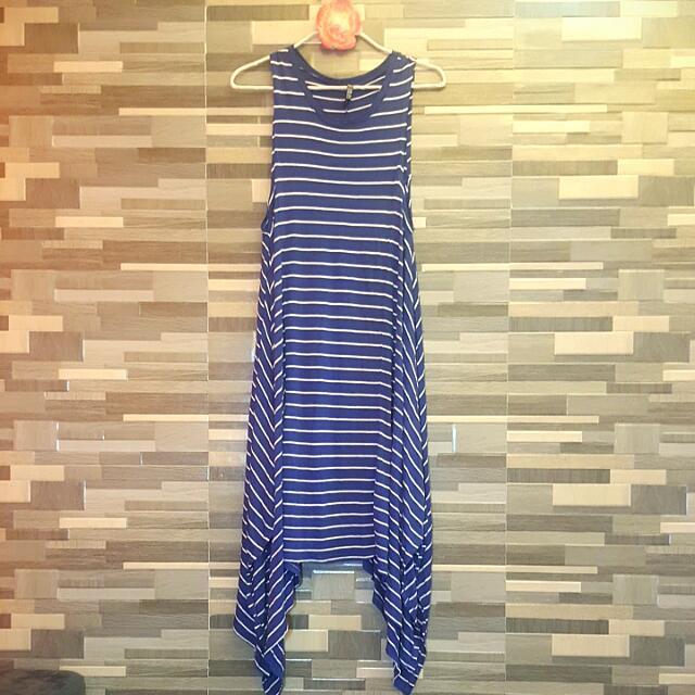 Dress Blue White Stripes (Cotton On)