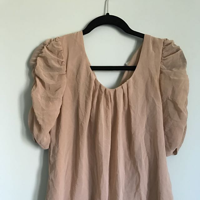 Elegant Puffed Shoulder Blouse