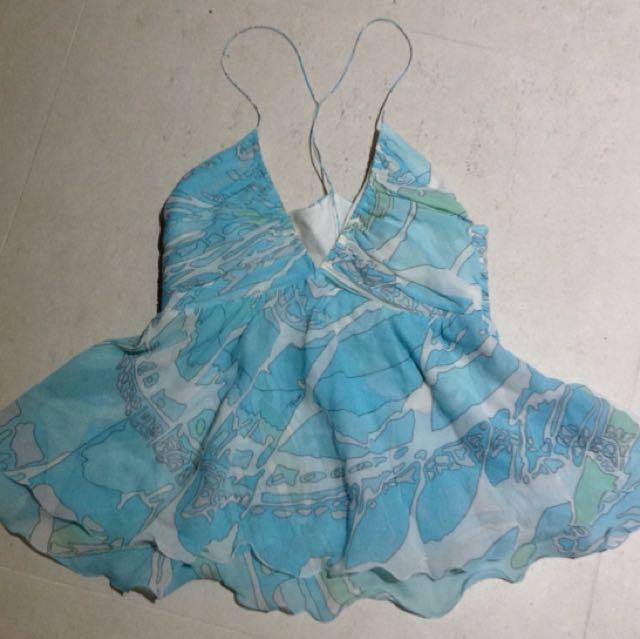 Emilio Pucci Silk Print Cami Top Size 6