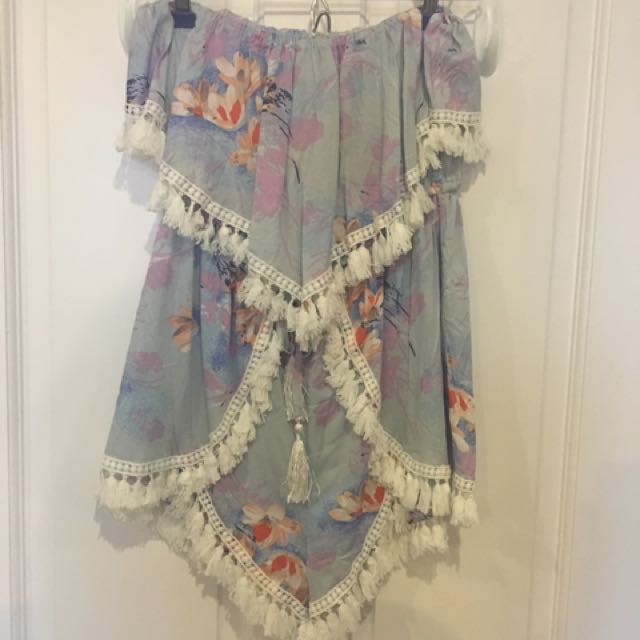 Floral Boob Tube Playsuit
