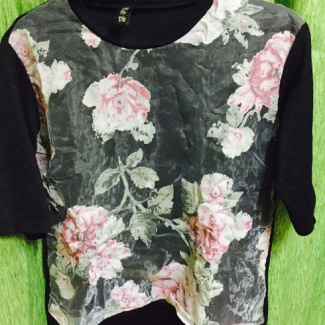 Flowery Half Sleeve Blouse