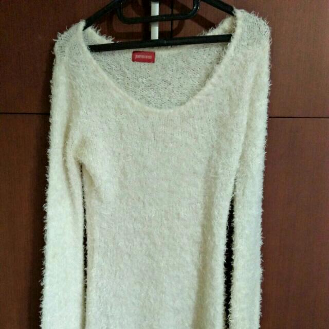 Furry Long Sleeved Dress