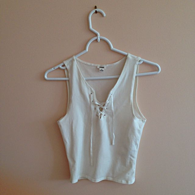Garage Lace-Up Tank Top