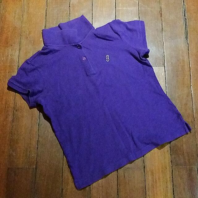 Girl Medium Size Purple Collar Blouse