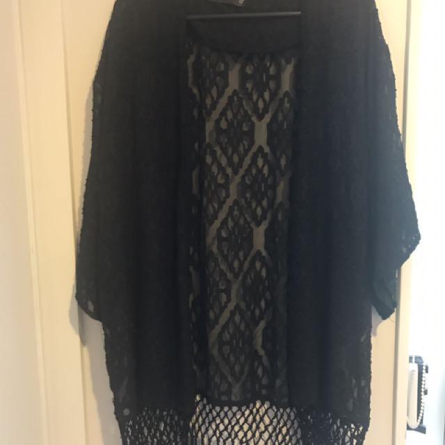 Glassons Black Kimono