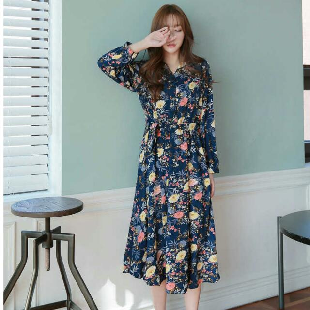 【gmarket購入】花色連身裙
