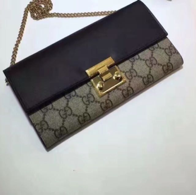 865d5a30c60403 GUCCI Padlock continental wallet on chain **100% AUTHENTIC**, Women's  Fashion, Bags & Wallets on Carousell