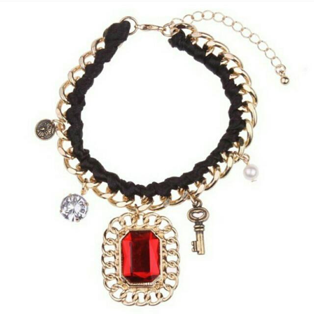 ASOS Red Retro Jewel Bracelet #NYB50