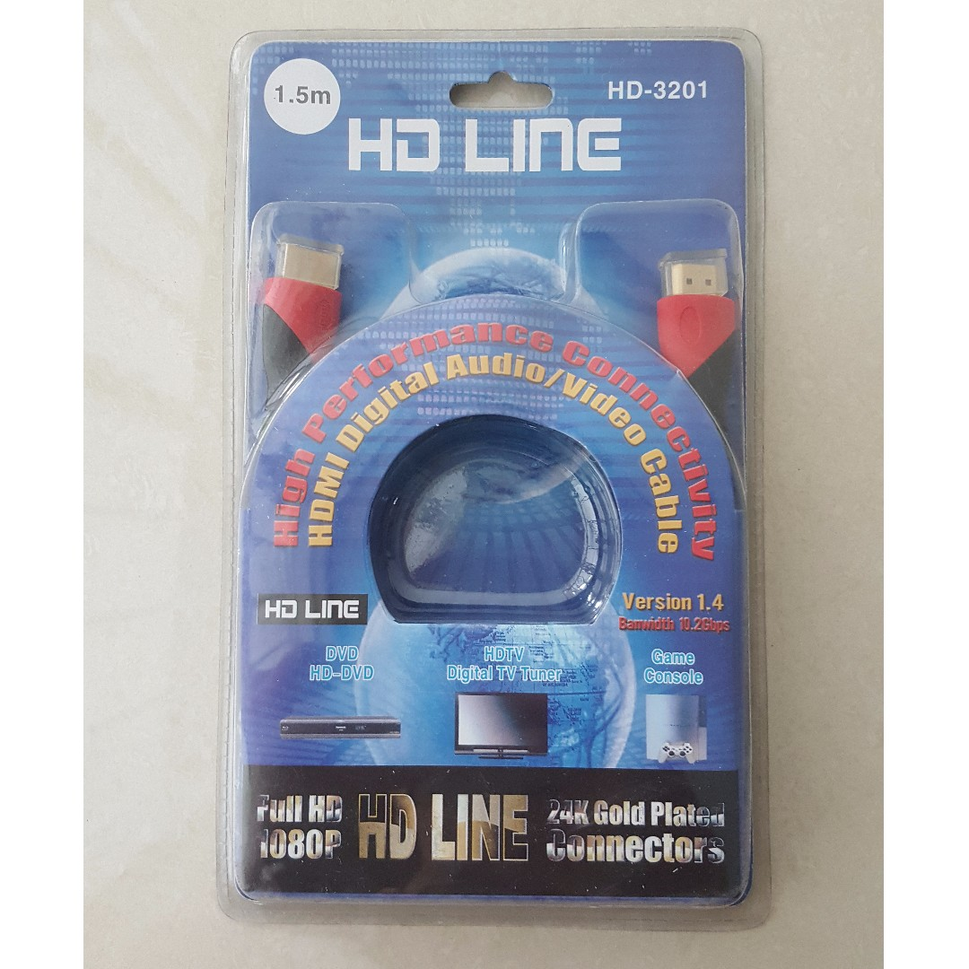 HDMI Cable 1.5m ( Brand New in box), Electronics, Computer Parts ...