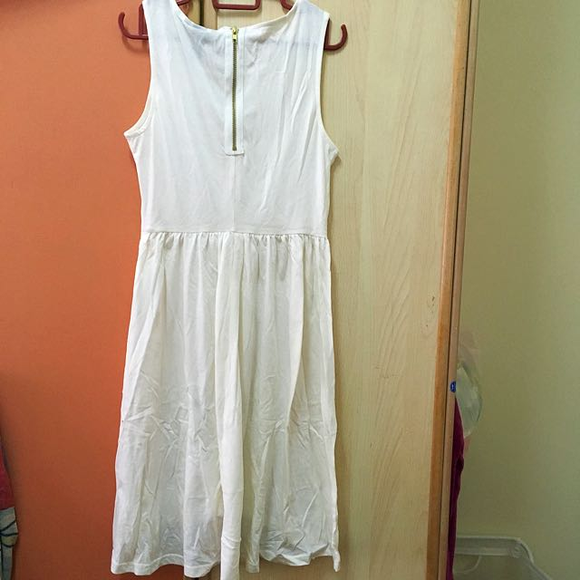 H&M White Skater Dress