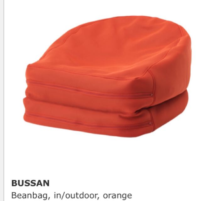 Ikea Bussan Beanbag Orange Colour Furniture Tables Chairs On
