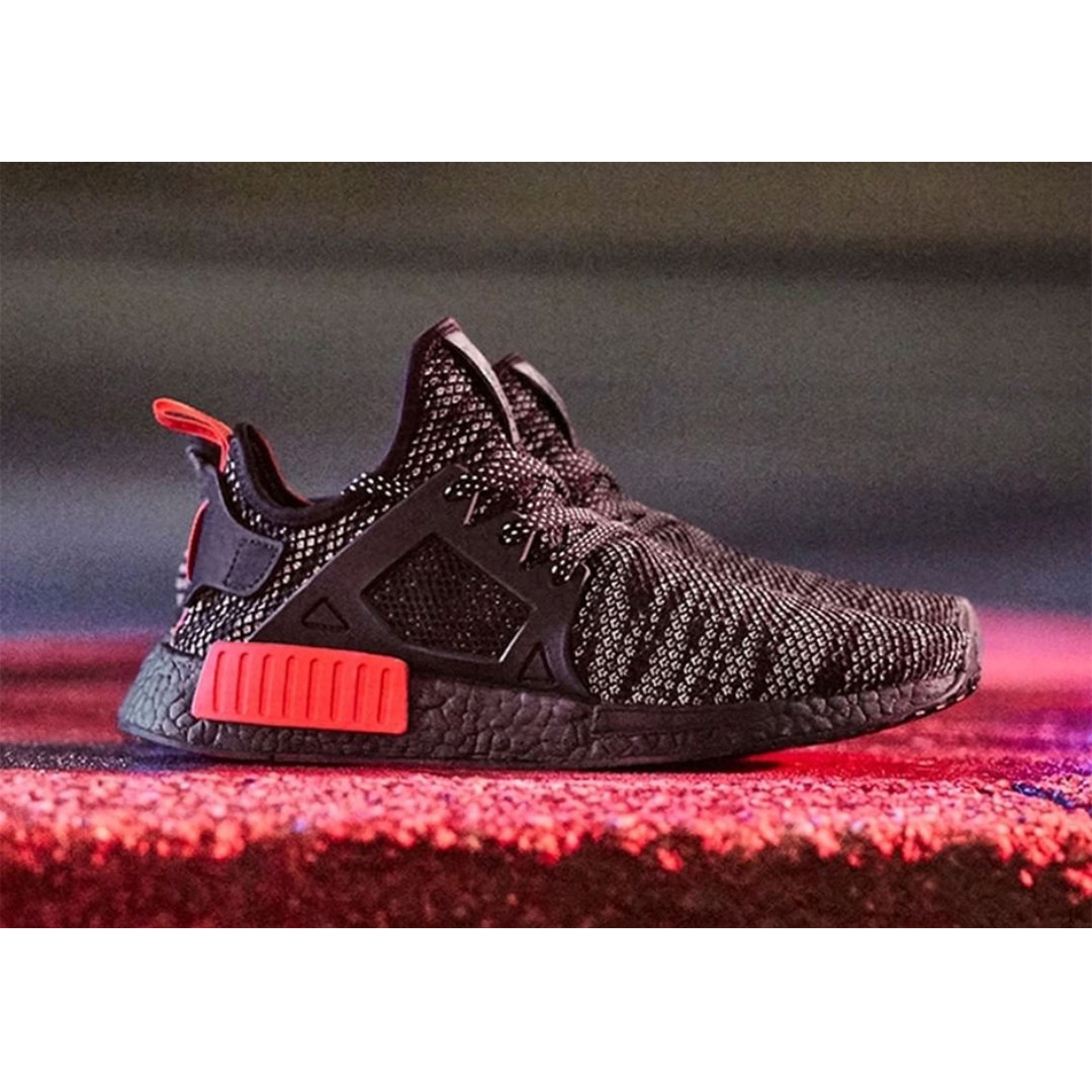 e42eca4ce 🔥In Stock🔥 UK10 NMD XR1 Glitch Black with Red Tab