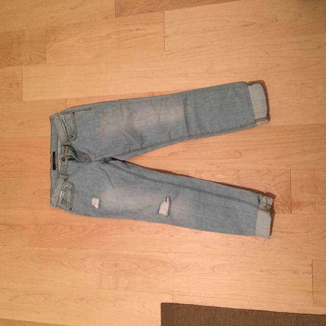 J Brand Boyfriend Fit Ripped Jean
