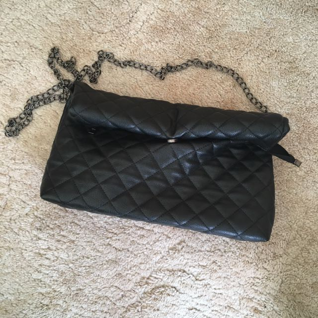 Jorge Quilted Pleather Clutch Bag