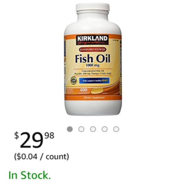 Kirkland Fish Oil From US (Authentic)