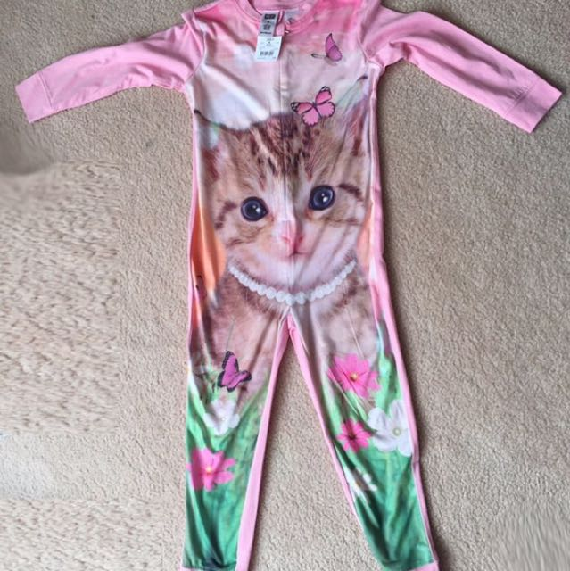 Kitten Onesie Pajamas for girls