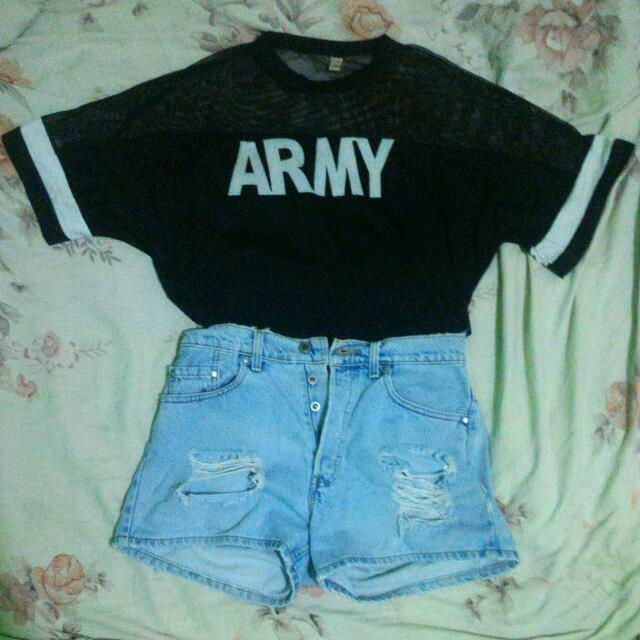 Korean Oversized ARMY Top