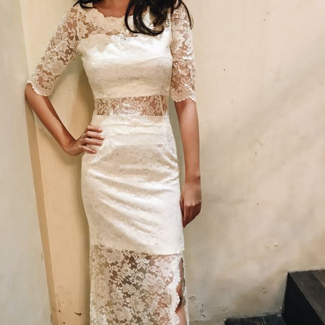 NEW! Custom Made By Me: Long Lace Dress