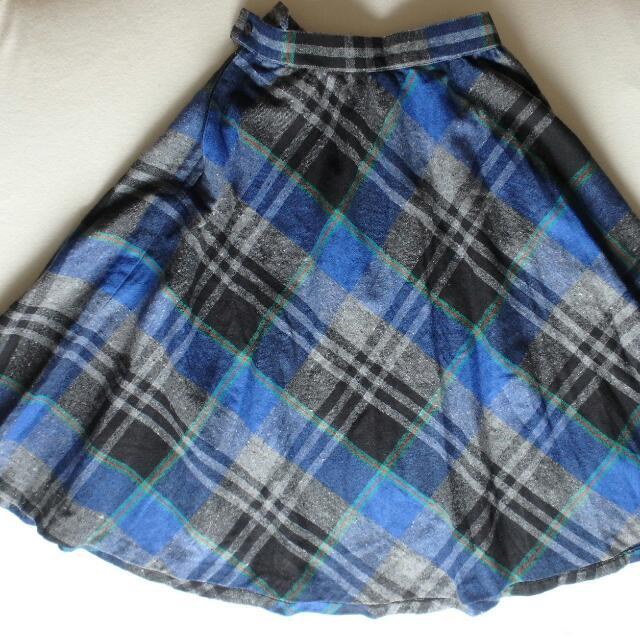Full Length Plaid Skirt (Size 12)