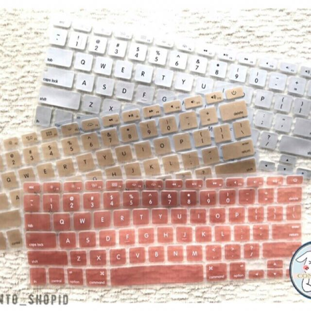 """Macbook Keyboard Protector GOLD/SILVER/ROSE GOLD 11""""/13""""/15"""""""