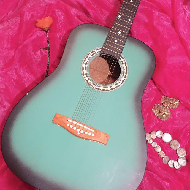 Mandaue Green Guitar