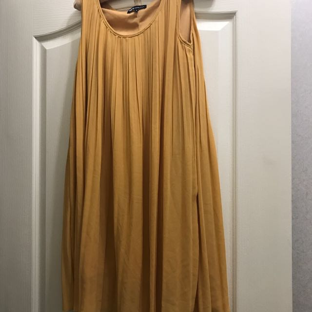 Net鵝黃色雪紡洋裝