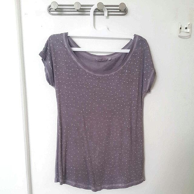 New Look Purple Top UK 10/M