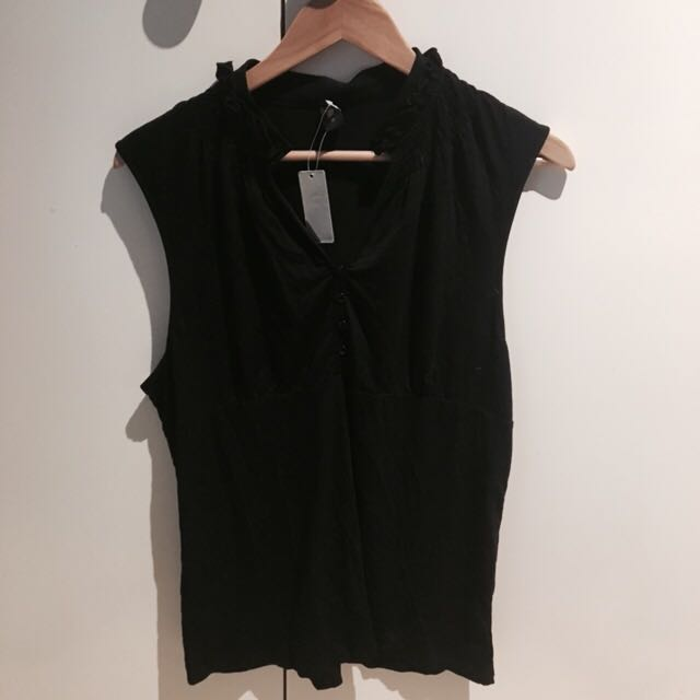 NEW WITH TAGS FRILL NECK TOP