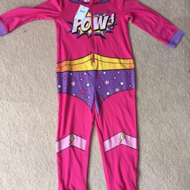 Onesie Pajama Superhero for Girls