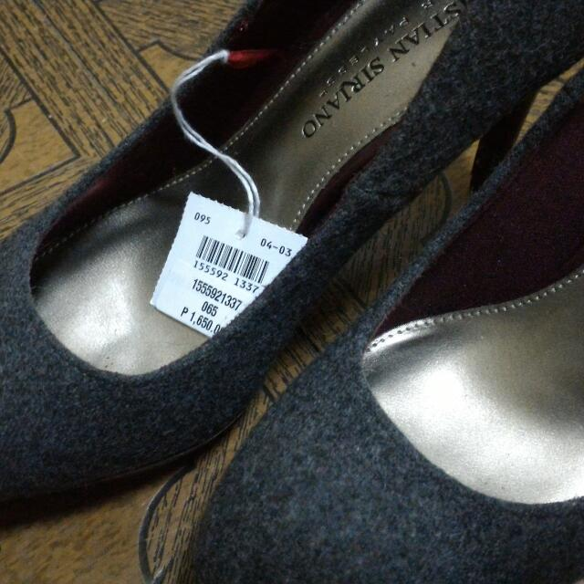 payless christian siriano grey pumps