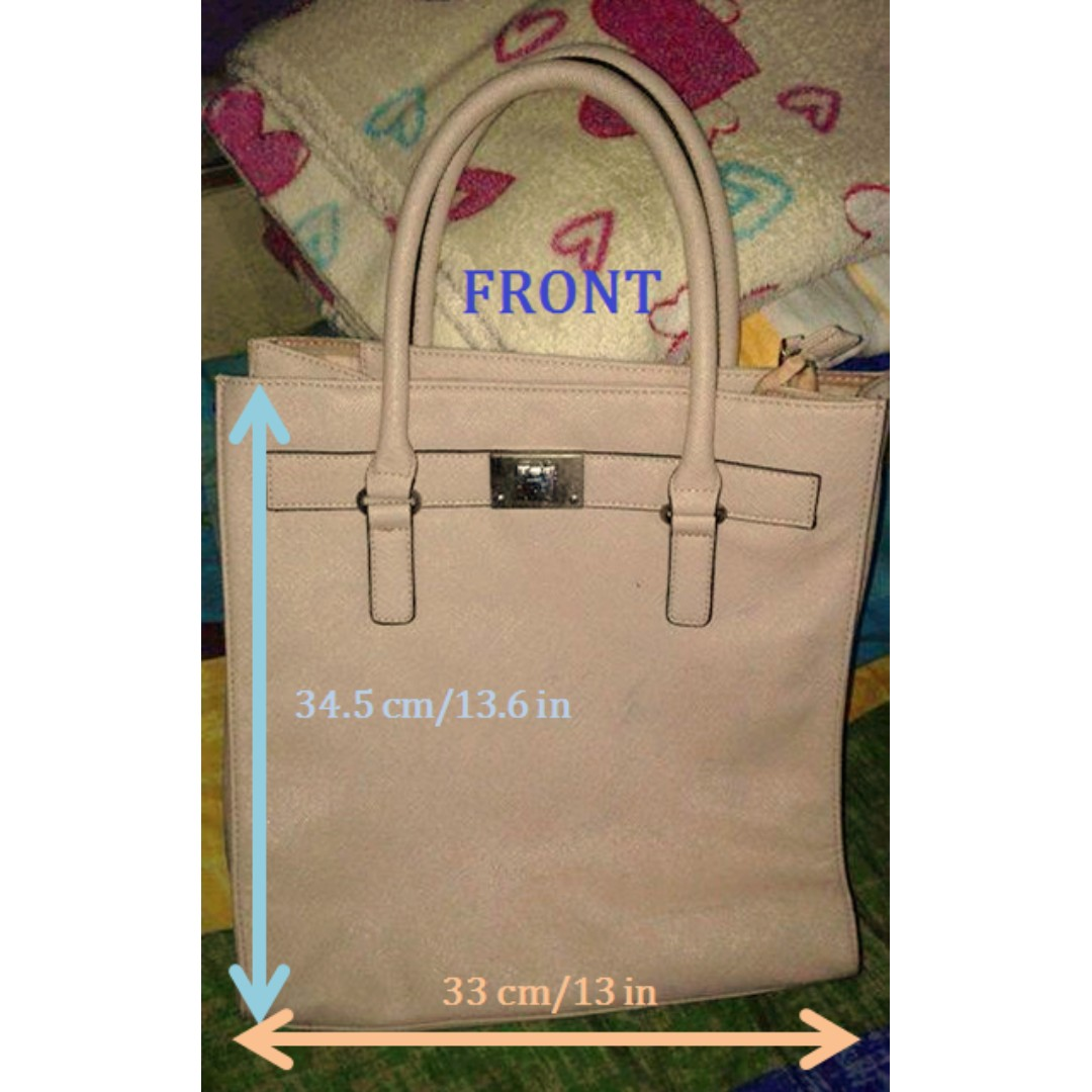 Pink Grain Leather Tote Bag