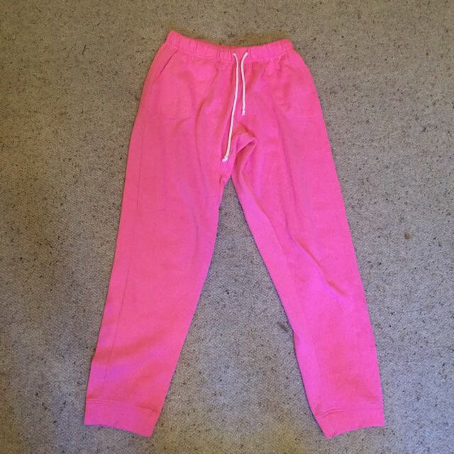 Pink Trackies Track Pants Fitted Ankles