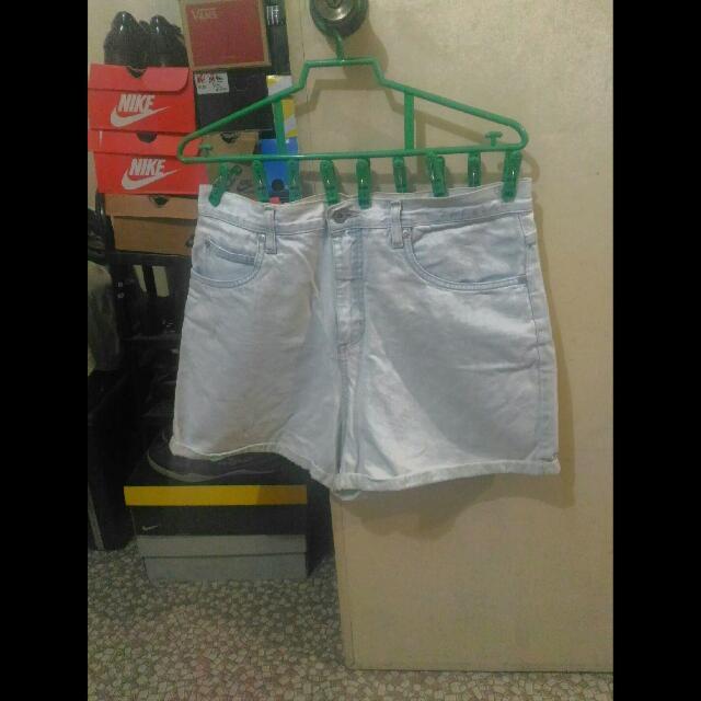 Plus Size High Waist Shorts