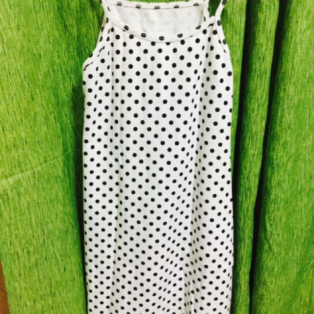 Pollka White Halter Dress